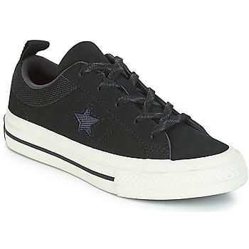 Buty Dziecko Trampki niskie Converse ONE STAR NUBUCK OX Czarny / Biały