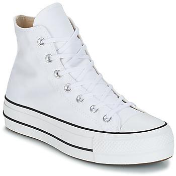 Buty Damskie Trampki wysokie Converse CHUCK TAYLOR ALL STAR LIFT CANVAS HI Biały