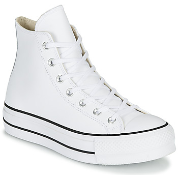 Buty Damskie Trampki wysokie Converse CHUCK TAYLOR ALL STAR LIFT CLEAN LEATHER HI Biały