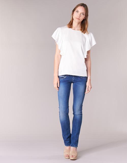 tekstylia Damskie Jeansy straight leg Pepe jeans VENUS Niebieski / Medium