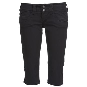 tekstylia Damskie Krótkie spodnie Pepe jeans VENUS CROP Czarny