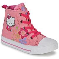 Buty Dziewczynka Trampki wysokie Hello Kitty LONS Różowy