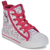 Buty Dziewczynka Trampki wysokie Hello Kitty LYNDA Biały
