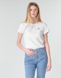 tekstylia Damskie T-shirty z krótkim rękawem Levi's PERFECT TEE Biały