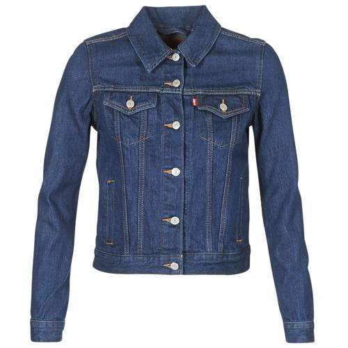 tekstylia Damskie Kurtki jeansowe Levi's ORIGINAL TRUCKER Niebieski