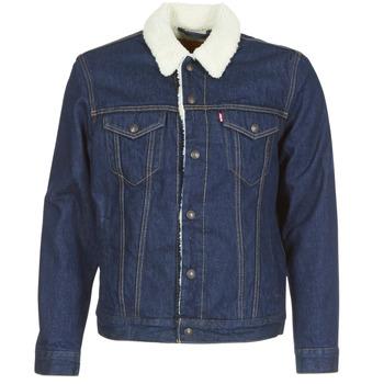 tekstylia Męskie Kurtki jeansowe Levi's TYPE 3 SHERPA TRUCKER Niebieski