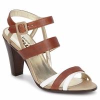 Buty Damskie Sandały Karine Arabian JOLLY COGNAC / Beżowy / Biały