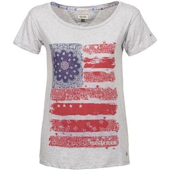 tekstylia Damskie T-shirty z krótkim rękawem Tommy Jeans CARLIE Szary