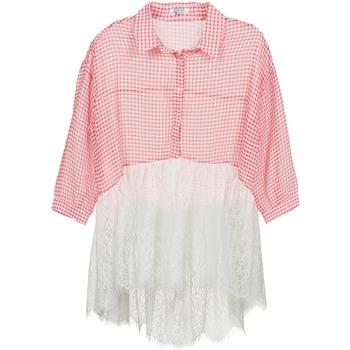 tekstylia Damskie Koszule Brigitte Bardot AMBRE Czerwony / Biały