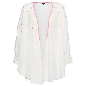 tekstylia Damskie Swetry rozpinane / Kardigany Brigitte Bardot APOLLINE Biały
