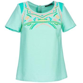 tekstylia Damskie Topy / Bluzki Color Block ADRIANA Niebieski