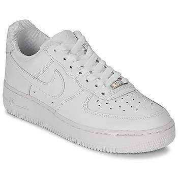 Buty Damskie Trampki niskie Nike AIR FORCE 1 07 LEATHER W Biały