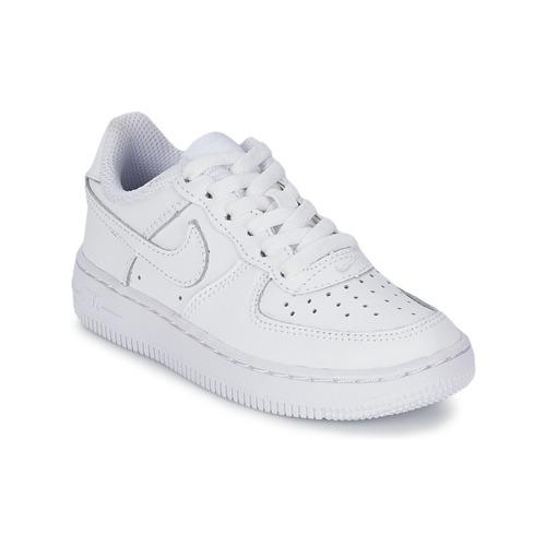 Buty Dziecko Trampki niskie Nike AIR FORCE 1 Biały