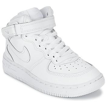 Buty Chłopiec Trampki wysokie Nike AIR FORCE 1 MID Biały