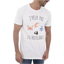 tekstylia Męskie T-shirty z krótkim rękawem Les Tricolores J'PEUX PAS J'AI BOUILLABAISSE Biały