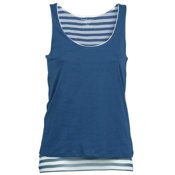 tekstylia Damskie Topy na ramiączkach / T-shirty bez rękawów Majestic BLANDINE Marine / Biały