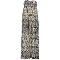 tekstylia Damskie Sukienki długie Le Temps des Cerises GOTA Szary / Biały