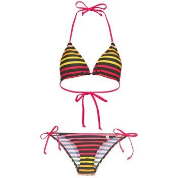 tekstylia Damskie kostium kąpielowy dwuczęściowy Little Marcel BASTINE Czarny / Wielokolorowe