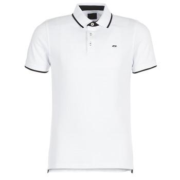 tekstylia Męskie Koszulki polo z krótkim rękawem Jack & Jones JJEPAULOS Biały