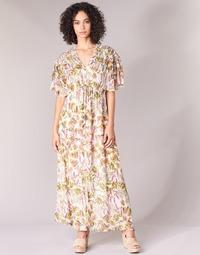 tekstylia Damskie Sukienki długie Derhy ALEXANDRIN Ecru