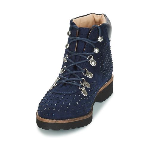 CALCEDOINE  André  buty za kostkę  damskie  niebieski
