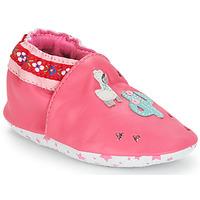 Buty Dziewczynka Kapcie niemowlęce André PERUVIENNE Różowy