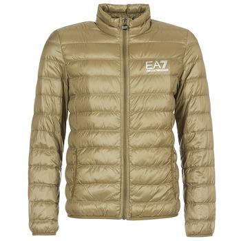 tekstylia Męskie Kurtki pikowane Emporio Armani EA7 TRAIN CORE ID M DOWN LIGHT Brązowy