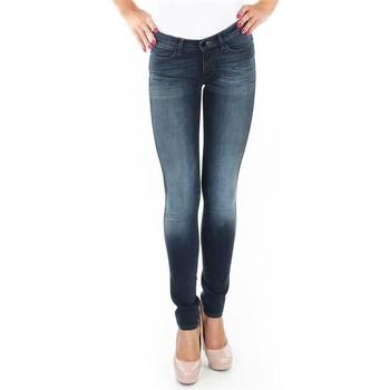 tekstylia Damskie Jeansy skinny Wrangler Spodnie  Corynn W25FU453J niebieski