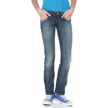 tekstylia Damskie Jeansy straight leg Lee Lynn L38418HD niebieski