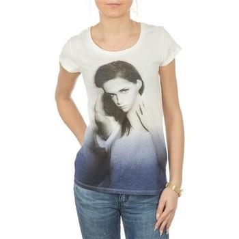 tekstylia Damskie T-shirty z krótkim rękawem Lee T-shirt  Photo Tee Cloud Dancer L40IAUHA biały, niebieski, szary