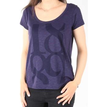 tekstylia Damskie T-shirty z krótkim rękawem Lee T-Shirt  Scoop Mystic Plum 40KFL87 niebieski