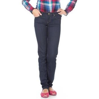 tekstylia Damskie Jeansy slim fit Lee Jeansy  Lynn Straight  L333EYCU niebieski