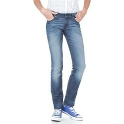 tekstylia Damskie Jeansy slim fit Lee Marlin L337AMPI niebieski