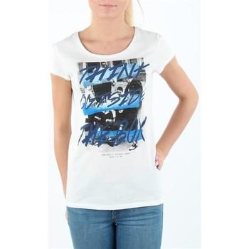 tekstylia Damskie T-shirty z krótkim rękawem Lee T-shirt Damski SLIM T CLOUD DANCER L41MEVHA biały