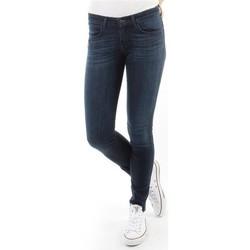 tekstylia Damskie Jeansy skinny Wrangler Spodnie Damskie CORYNN BLUE SHELTER W25FU466N niebieski