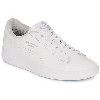 Buty Dziecko Trampki niskie Puma SMASH V2 L JR Biały