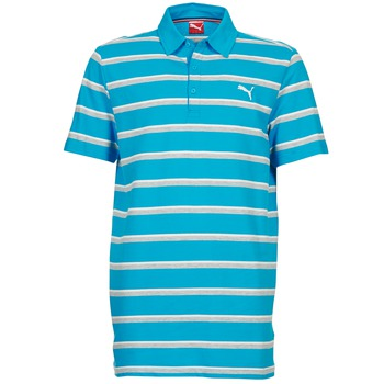 tekstylia Męskie Koszulki polo z krótkim rękawem Puma FUN STRIPE PIQUE POLO Niebieski / Biały / Szary