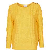 tekstylia Damskie Swetry Betty London JEDRO Żółty