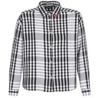 tekstylia Damskie Koszule Maison Scotch FRINDA Czarny / Biały