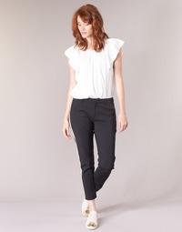 tekstylia Damskie Spodnie bojówki Maison Scotch ZERATRE Czarny / Biały