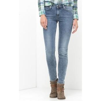 tekstylia Damskie Jeansy skinny Lee Jeansy  Scarlett Skinny L526WMUX niebieski