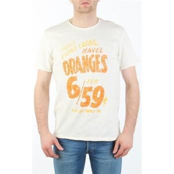 tekstylia Męskie T-shirty z krótkim rękawem Lee MARCANTILE L668ABBC biały