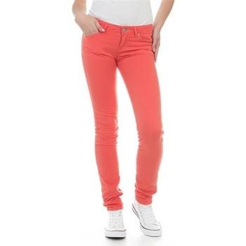 tekstylia Damskie Jeansy skinny Wrangler Jeansy  Molly Melon W251U229M czerwony