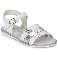 Buty Dziewczynka Sandały Citrouille et Compagnie KATAGUE Biały