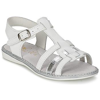 Buty Dziewczynka Sandały Citrouille et Compagnie ROLUI Biały