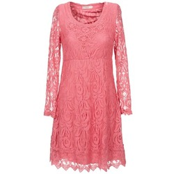tekstylia Damskie Sukienki krótkie Cream ANNEMON LACE Różowy