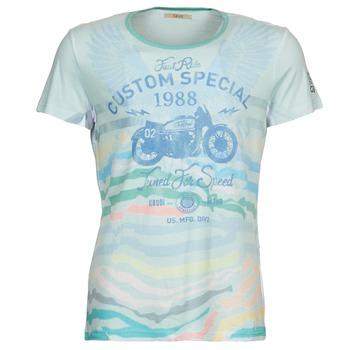 tekstylia Męskie T-shirty z krótkim rękawem Gaudi ABHIJVALA Niebieski