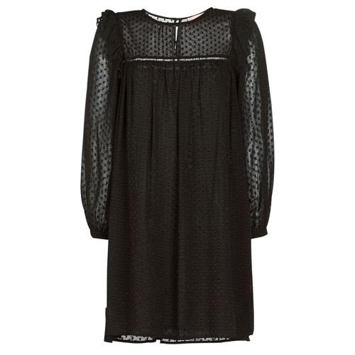 tekstylia Damskie Sukienki krótkie Moony Mood BREYAT Czarny