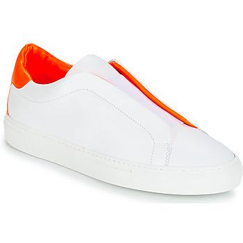 Buty Damskie Trampki niskie KLOM KISS Biały / Pomarańczowy