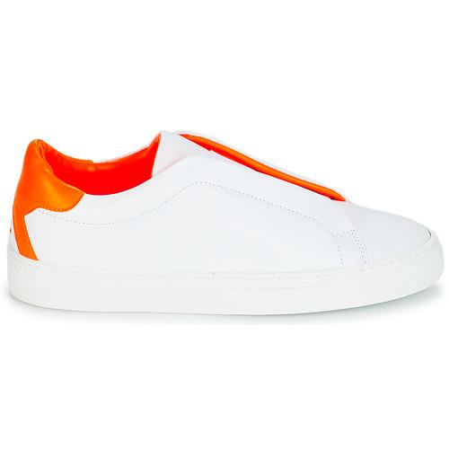Klom Kiss Biały / Pomarańczowy - Bezpłatna Dostawa- Buty Trampki Niskie Damskie 599,20 Zł